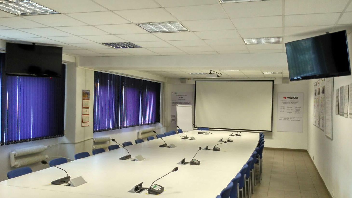 System audiowizualny do sali konferencyjnej