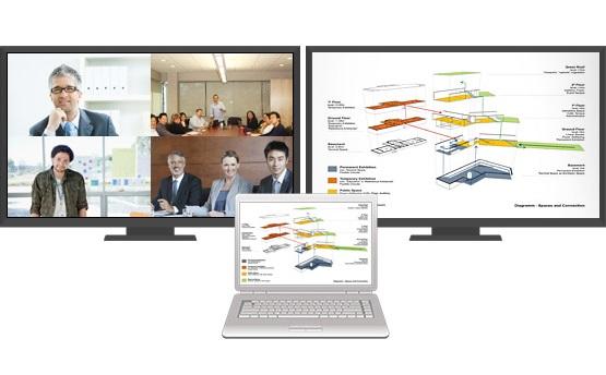 wideokonferencje: monitory wielkoformatowe
