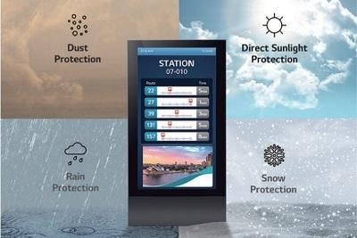 monitory outdoor - odporność na słońce, zapylenie, deszcz